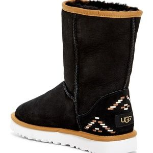 UGG Australia Classic Short Rustic Weave Boots